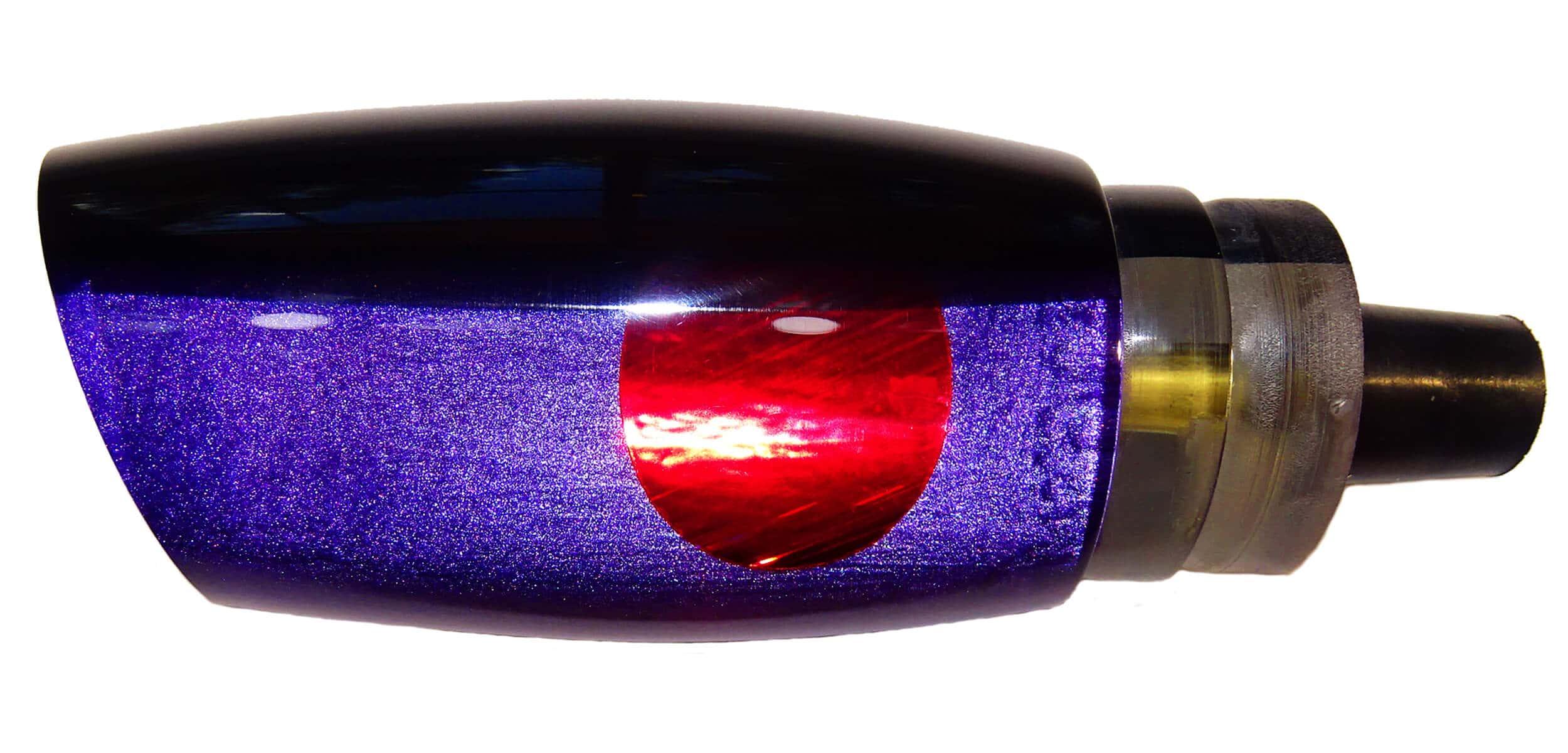 Frantic Lures - Havoc Series - Head - Black Top Purple Pearl