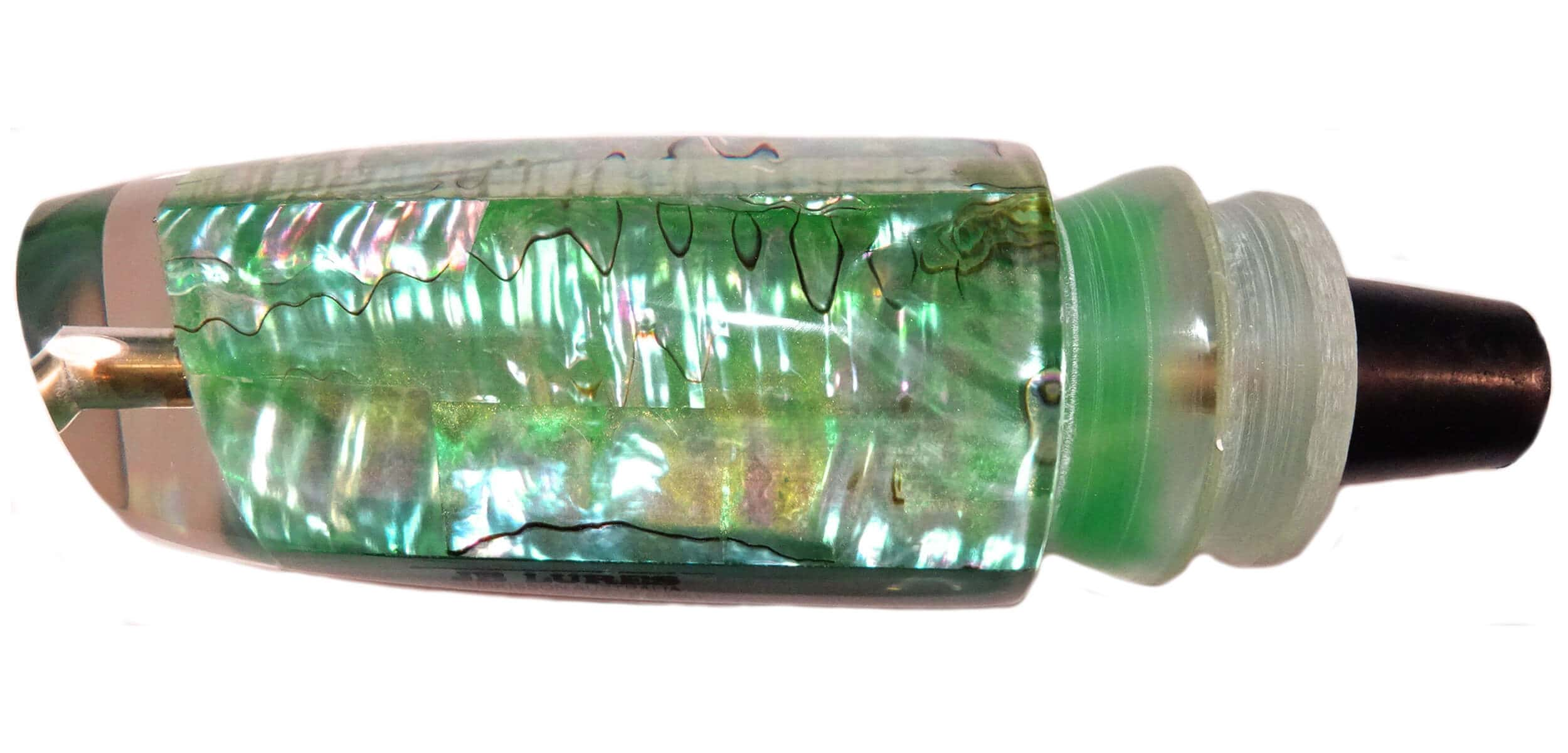 JB Lures - Plunger Series - Head - Mexican Green Abalone with Green Insert