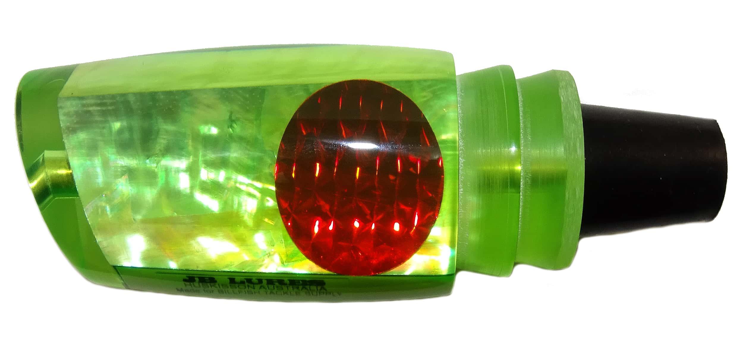 JB Lures - Ripper Series - Head - Fluoro Green with Raw Agoya Shell