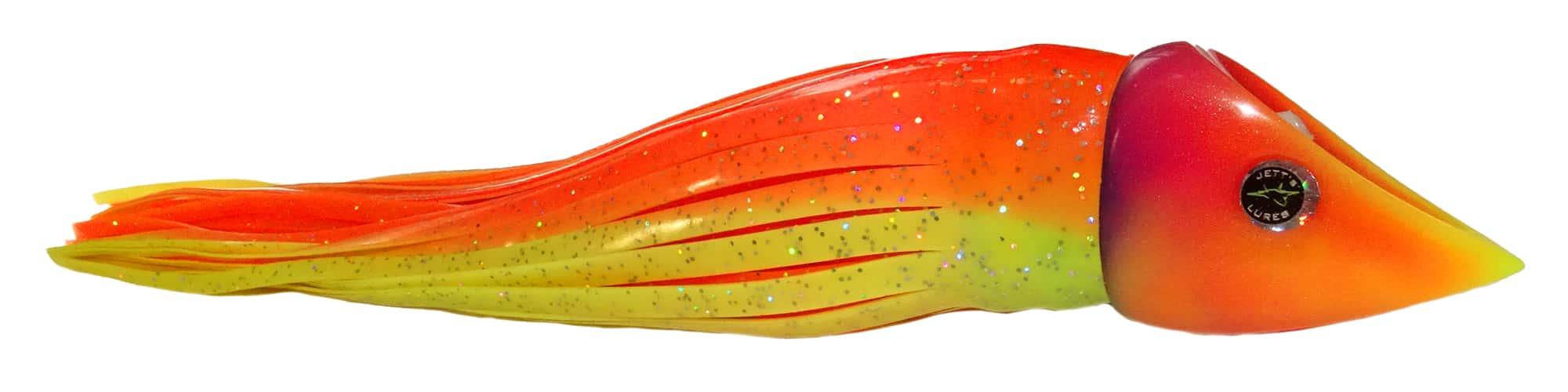 Jetts Lures - Wedgie Series - Skirted - Orange Yellow Punky Scheme