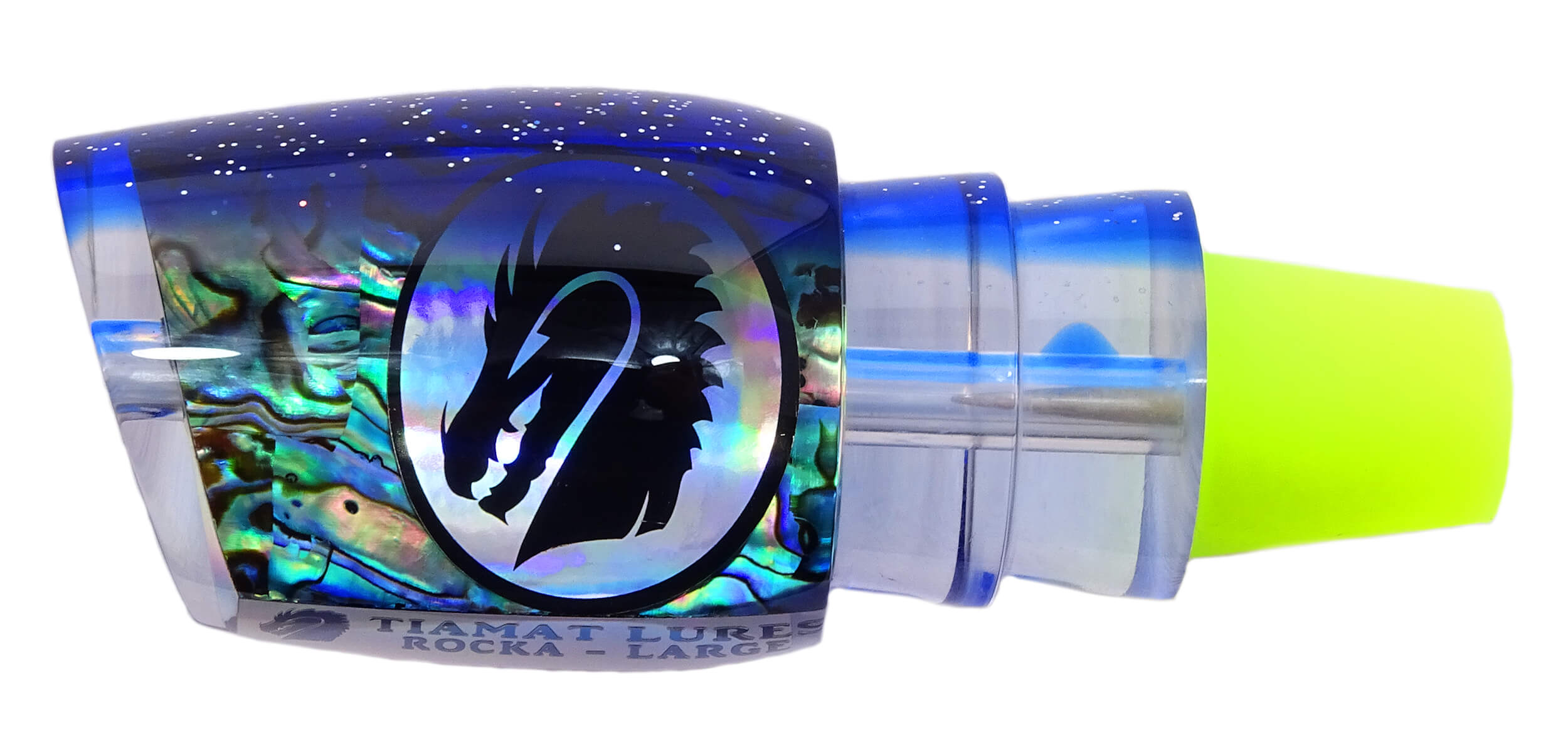 Tiamat Lures - Rocka Series - Head - New Zealand Paua Shell with Sparkled Blue Top Tint