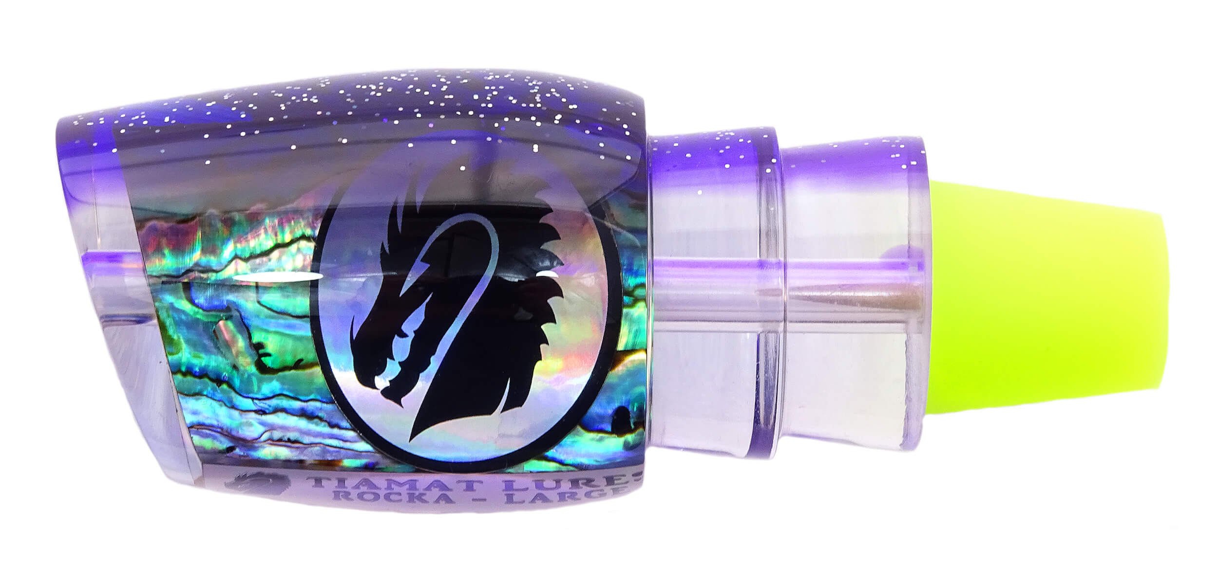 Tiamat Lures - Rocka Series - Head - New Zealand Paua Shell with Sparkled Purple Top Tint